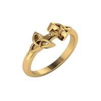 Image for 14K Yellow Gold Trinity Knot Ring- SETTING ONLY
