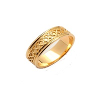 Image for Ladies 14K Yellow Gold Sheelin Celtic Knot Wedding Band