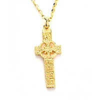 Image for 10k Yellow Gold St. Patricks And Columba Kells Cross