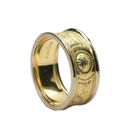 Image for Celtic Warrior Shield Band 14K  Gold with Gold Trim 7mm