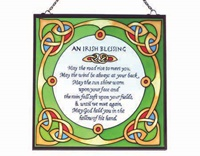 Image for Royal Tara Irish Blessing Stained Glass