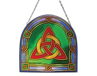 Image for Stained Glass Trinity Knot 16 cm Panel
