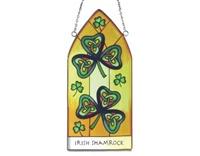 Image for Royal Tara Irish Shamrock Gothic Stained Glass