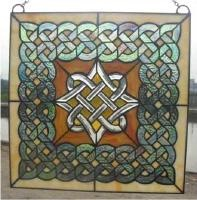 Image for Celtic Diamond Beveled Stained Glass