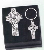 Image for Celtic Cross Visor Clip and Keychain Gift Set