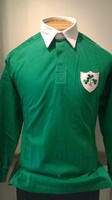 Image for Long Sleeved Solid Green Rugby Shirt Padded Shoulders