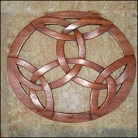 Image for Blue Frogs Handcarved Wooden Circle Trinity