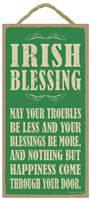 Image for Irish Blessing: May Your Troubles Be Less