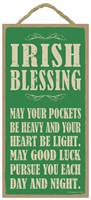 Image for Irish Blessing: May Your Pockets be Heavy and