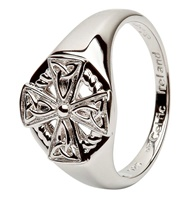 Image for Celtic Cross Sterling Silver Ring