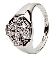 Image for Celtic Cross Sterling Silver Ring