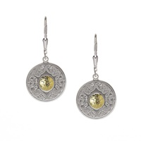 Image for Sterling Silver with 18K Gold Beads Celtic Warrior Earrings, Small