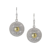 Image for Sterling Silver with 18K Gold Beads Celtic Warrior Earrings, Medium