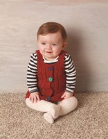 Image for Natural Aran 5 Button Pinafore
