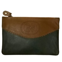 Image for Tinnakeenly Leather Celtic Zip Coin Purse