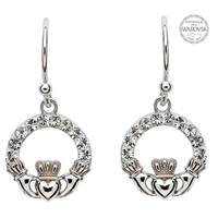 Image for Claddagh Earrings Embellished With Swarovski Crystals