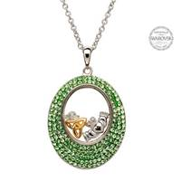 Image for Claddagh And Trinity Pendant Encrusted With Swarovski Crystals