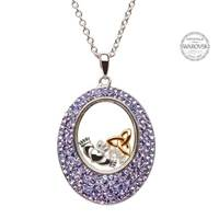 Image for Claddagh Trinity Pendant Encrusted With Swarovski Crystals