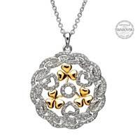 Image for Shamrock Heart Pendant Encrusted With Swarovski Crystals