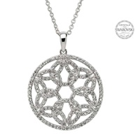 Image for Shanore Trinity Circle Pendant Embellished With Swarovski Crystals