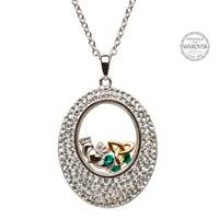 Image for Trinity Claddagh Pendant Encrusted With Swarovski Crystals