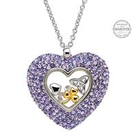 Image for Trinity Heart Pendant Encrusted With Swarovski Crystals