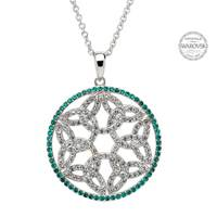 Image for Trinity Knot Circle Pendant Encrusted With Swarovski Crystals