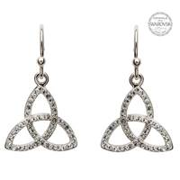Image for Trinity knot Earring Embellished With Swarovski Crystals