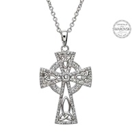 Image for Celtic Trinity Cross Embellished with Swarovski Cyrstals