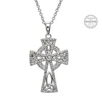 Image for Celtic Trinity Cross Embellished with Swarovski Cyrstals