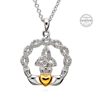 Image for Claddagh Trinity Pendant Embellished With Swarovski Crystals