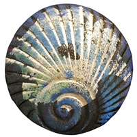 Image for Bill Baber Blue Metallic Shell Brooch