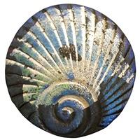Image for Bill Baber Blue Metallic Shell Brooch