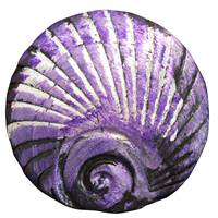 Image for Bill Baber Purple Metallic Shell Brooch