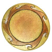 Image for Bill Baber Bronze Sun Brooch