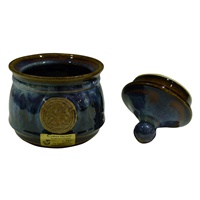 Image for Colm De Ris Irish Pottery Sugar Bowl Blue