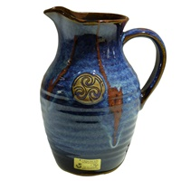 Image for Colm De Ris Irish Pottery The Pitcher,Blue