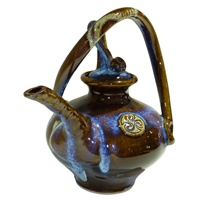 Image for Colm De Ris Irish Pottery, Spiral Tea Pot Blue