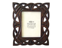 Image for Island Craft 4x5 Carved Knotwork Photo Frame