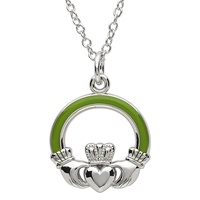 Image for Platinum Plated Claddagh Pendant