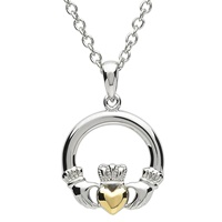 Image for Platinum Plated Claddagh Pendant by Shanore