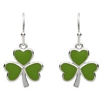 Image for Platinum Plated Shamrock Earring