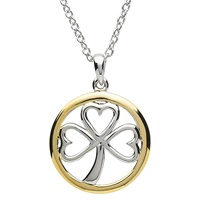Image for Platinum Plated Shamrock Pendant