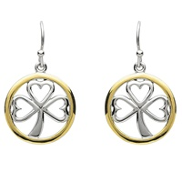 Image for Platinum Plated Shamrock Earring