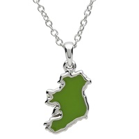 Image for Platinum Plated Map of Ireland Pendant