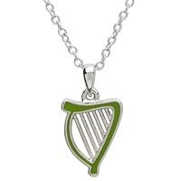 Image for Platinum Plated Harp Pendant