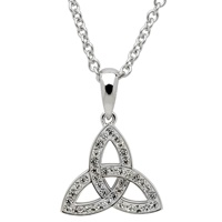 Image for SS White Swarovski Crystal Trinity Necklace, Small