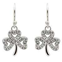 Image for Shamrock Drop Earrings Adorned With Swarovski Crystals
