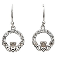 Image for Claddagh Earrings Adorned With Swarovski Crystals