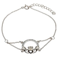 Image for Claddagh Bracelet Adorned with Swarovski Crystals
